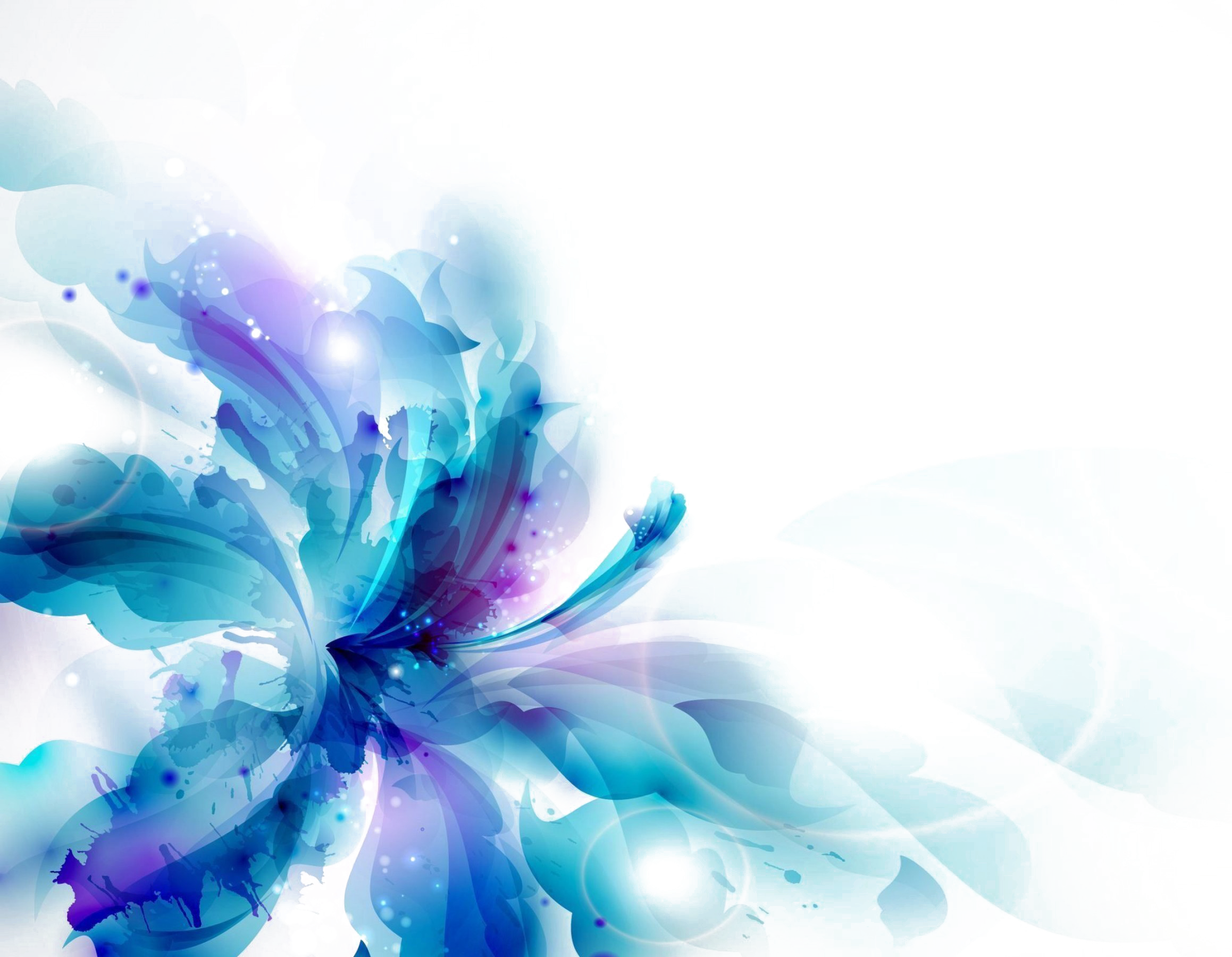 Blue Abstract Flowers Png - Abstract Flower PNG Transparent Images 17 - 2317 X 1800 - Making ...