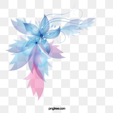 Blue Abstract Flowers Png - Abstract Flowers Png, Vector, PSD, and Clipart With Transparent ...