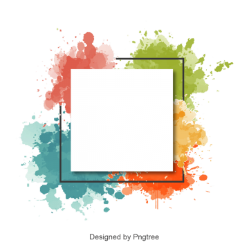 Frame Png - Abstract watercolor splash frame and border, Watercolor Border, Watercolor,  Border PNG and Vector