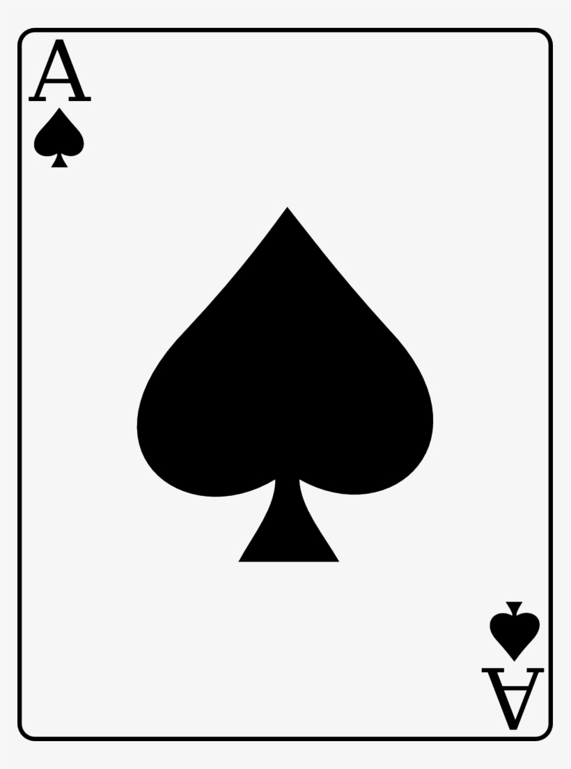 Playing Spades Png - Ace Of Spades - Playing Card Design Ace - Free Transparent PNG ...