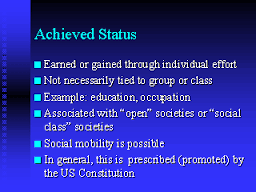 Ascribed Status Png - Achieved Status – Assignment Point