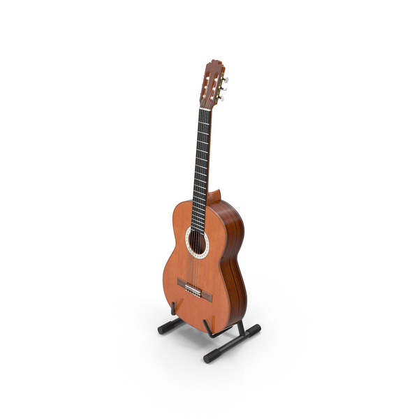 Acoustic Png - Acoustic Guitar & Stand PNG & PSD
