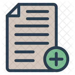 Add Document Icon Of Colored Outline Sty Png Images Pngio