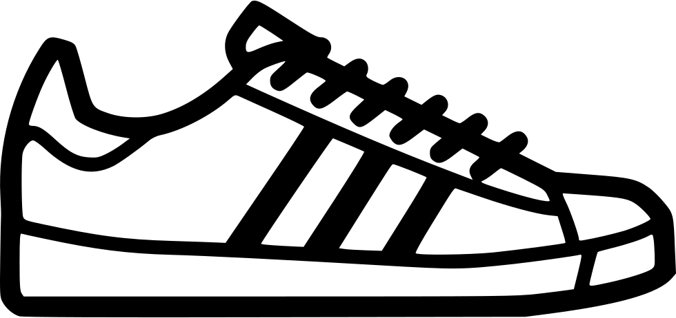 Adidas Superstar Illustration Png - Adidas Sneakers Clipart