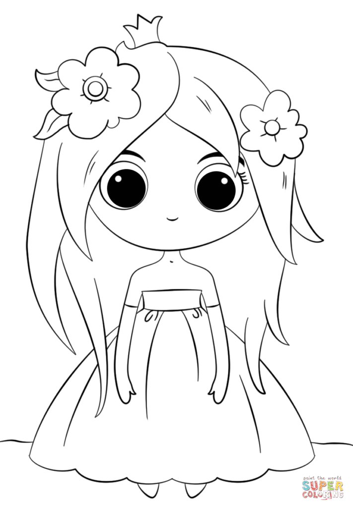 Adorable-Cartoon-Princess-Coloring-Page-711x1024.png (711×1024 #2445514  - PNG Images - PNGio