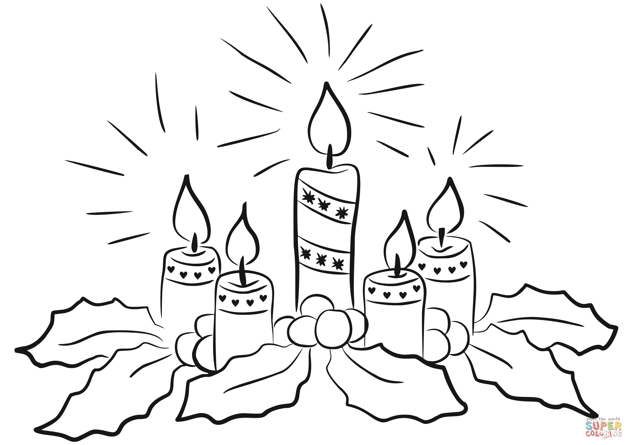 Free Advent Coloring Pages for Kids (Christmas Printables) | 1414x2000