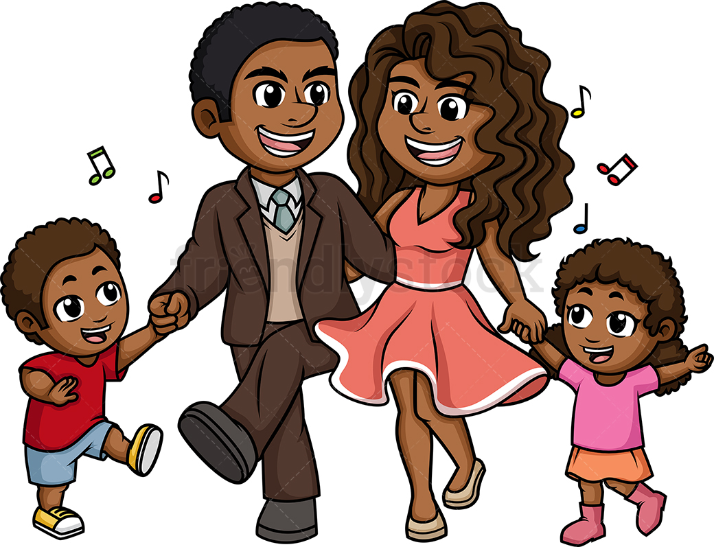 African American Boy And Mom Png - African-American (Black) Family Dancing Cartoon Clipart Vector ...