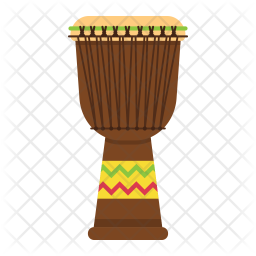 African Drums Png - African djembe drum Icon of Flat style - Available in SVG, PNG ...