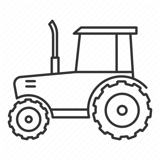 Tractor Outline Png - Agriculture, farm, farming, machine, machinery, tractor, vehicle icon