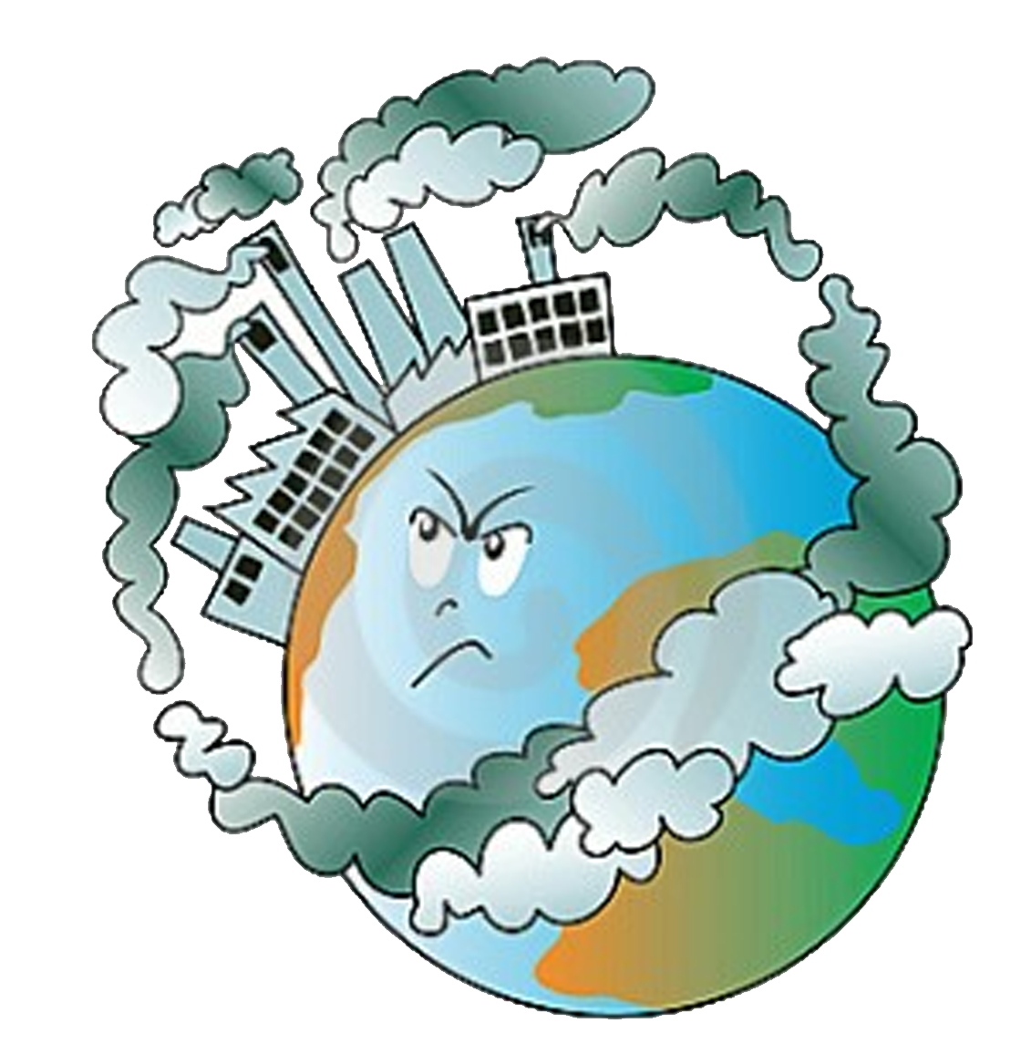 Air pollution soil contamination water pollution clip art natural