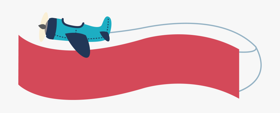 Cartoon Airplane Banner Png Free Cartoon Airplane Banner Png Transparent Images 114700 Pngio