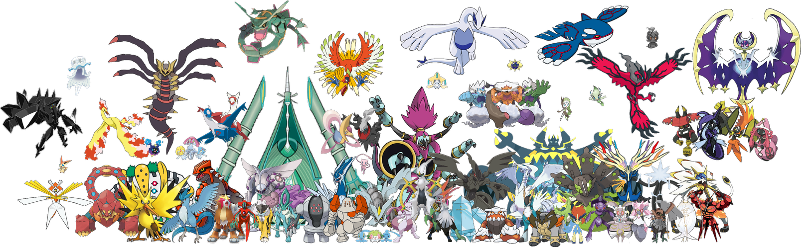 Legendary Pokemon Png - All Legendary Pokemon in PNG by DavidBksAndrade on DeviantArt