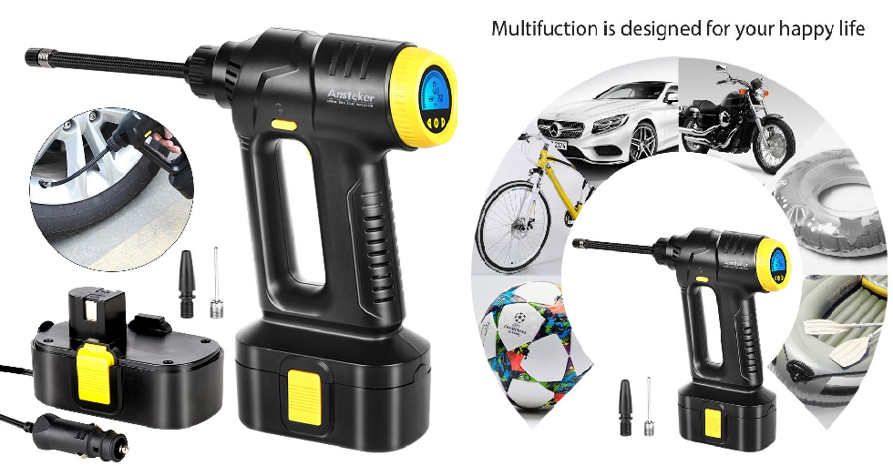 Happy Car Wrench Png - Amazon: Air Compressor, Portable Cordless Tire Inflator for Car ...