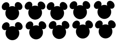 Mickey Mouse Head - Amazon.com: Disney Mickey Mouse Head Die Cuts - 10piece 5 Inches Wide