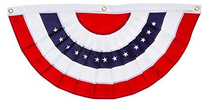 Old Fashioned Patriotic Bunting Png - Amazon.com : Evergreen Flag Patriotic Applique Bunting (5 x 2.5, 1 ...
