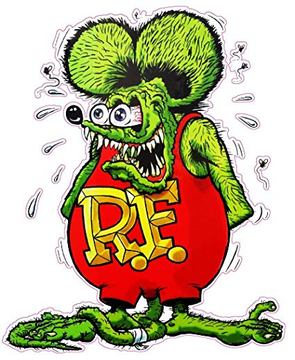 Rat Fink - Amazon.com: Nostalgia Decals Rat Fink Version 2 Decal from The ...