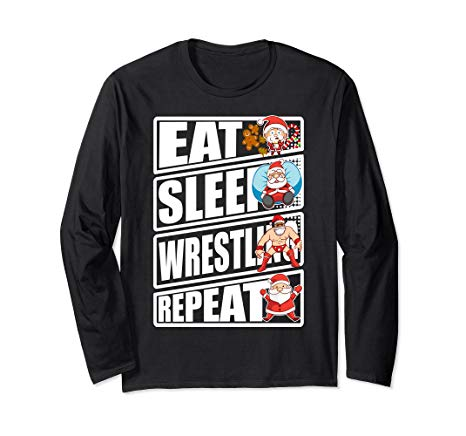 Santa Claus Wrestling Png - Amazon.com: Wrestling Eat Sleep Repeat Christmas Santa Claus Long ...