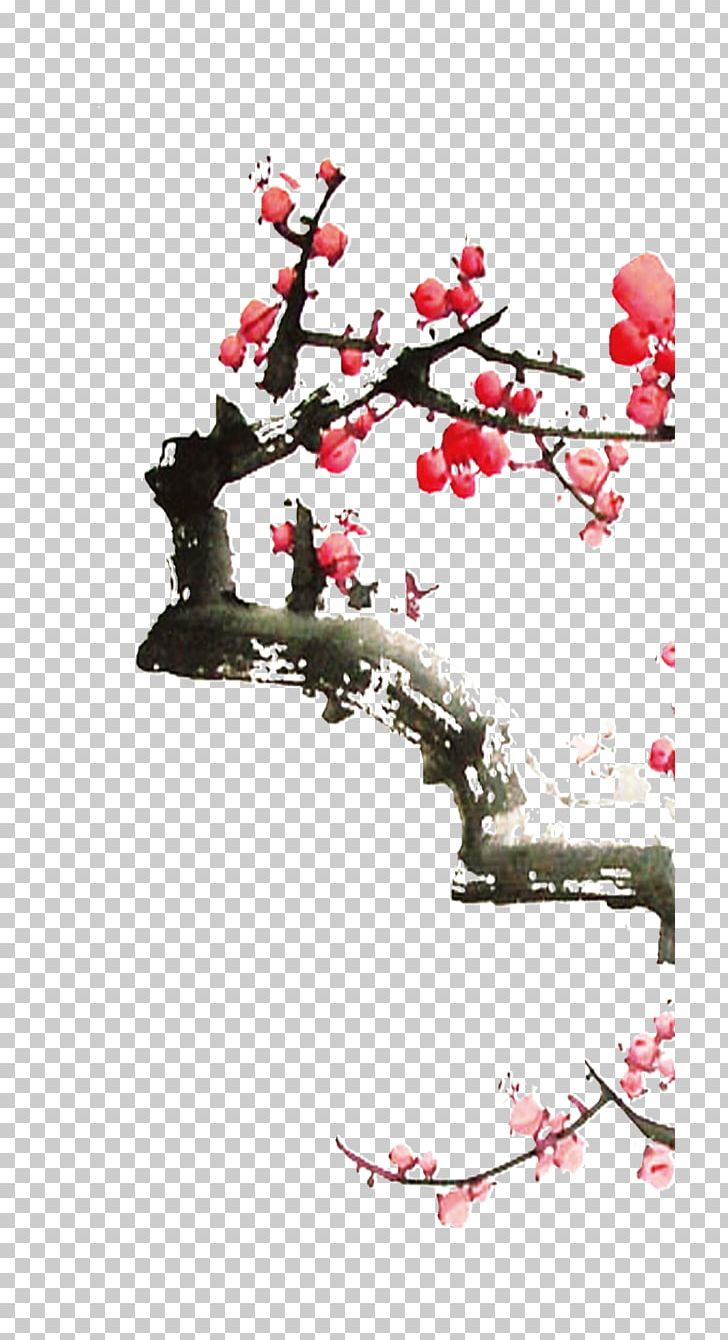 Ameixeira Png - Ameixeira Poster Ink Wash Painting PNG, Clipart, Blossom, Branch ...