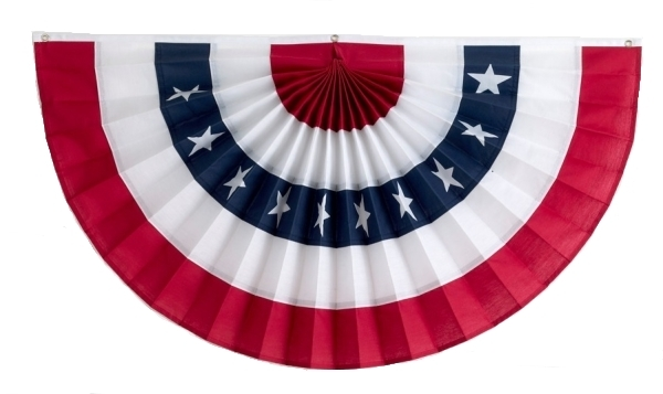 Old Fashioned Patriotic Bunting Png - American Flag Bunting Pleated Fans | Independence Bunting