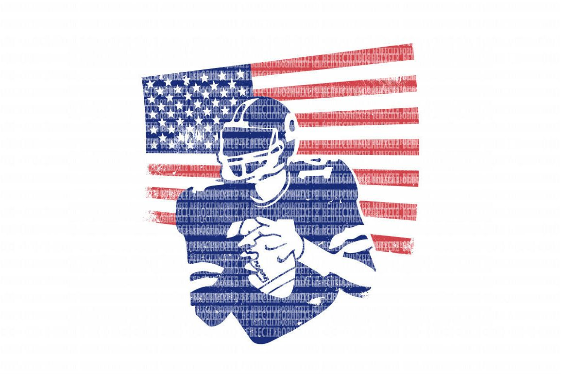 Flag Football Player Png - American Flag Football Player SVG Files DXF EPS PNG JPG Cut ...