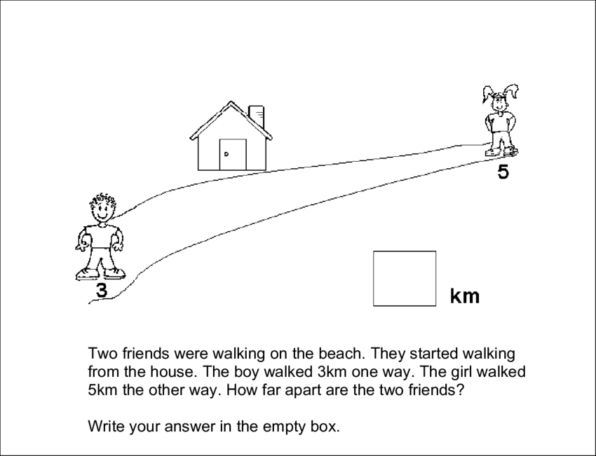 Boy Girl At The Beach Black And White Png - An additive reasoning problem in the Year 4 Mathematical Reasoning ...