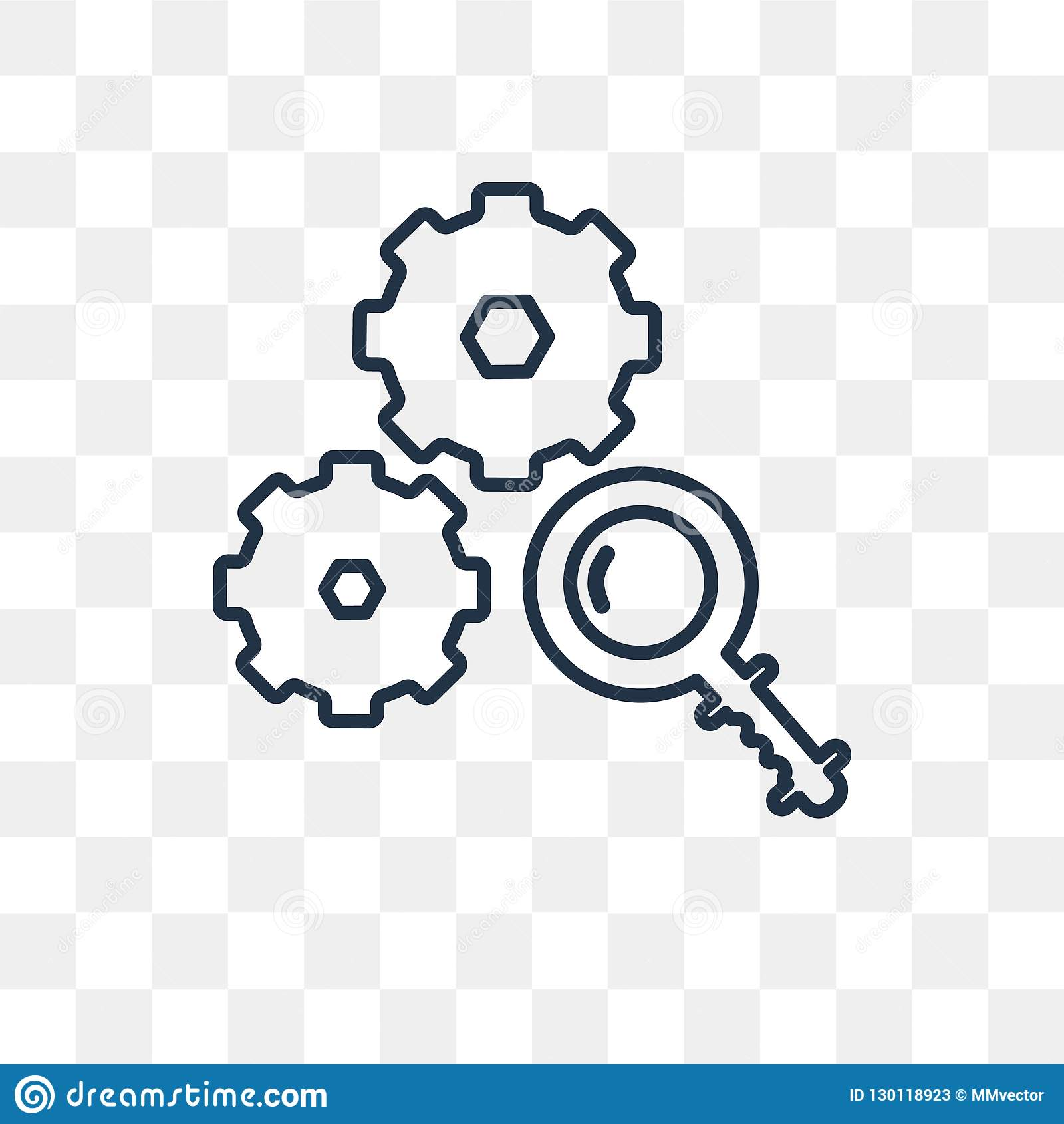 Analyze Png No Background - Analyze Vector Icon Isolated On Transparent Background, Linear A ...