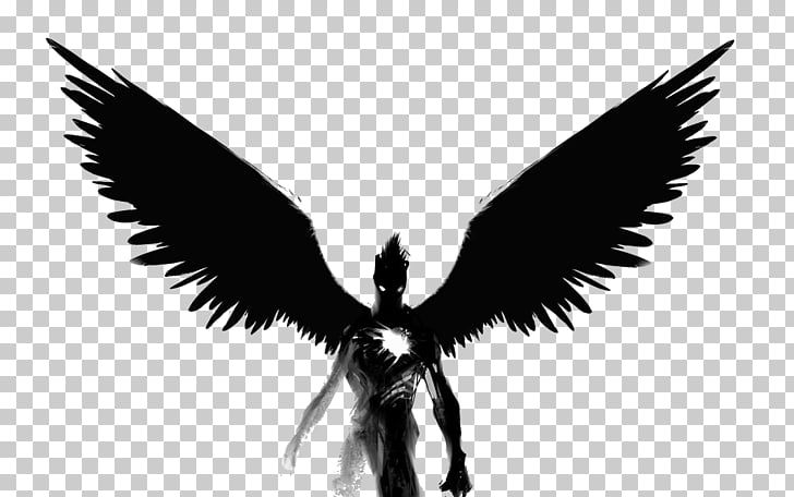 Black Devil Png - Angel Black and white , Black Devil, monster with black wings PNG ...