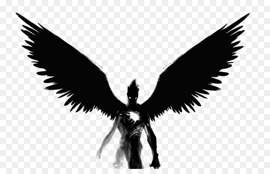 Black Devil Png - Angel Png Black And White & Free Angel Black And White.png ...