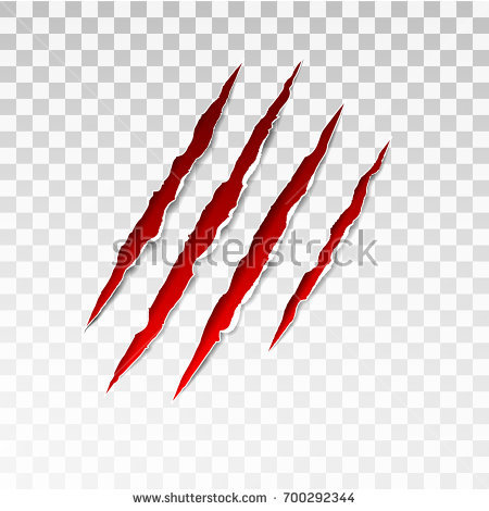 Claw Scratch Png - Animal red scratches on transparent background. Paper claws animal  scratching. Claw scratch mark.