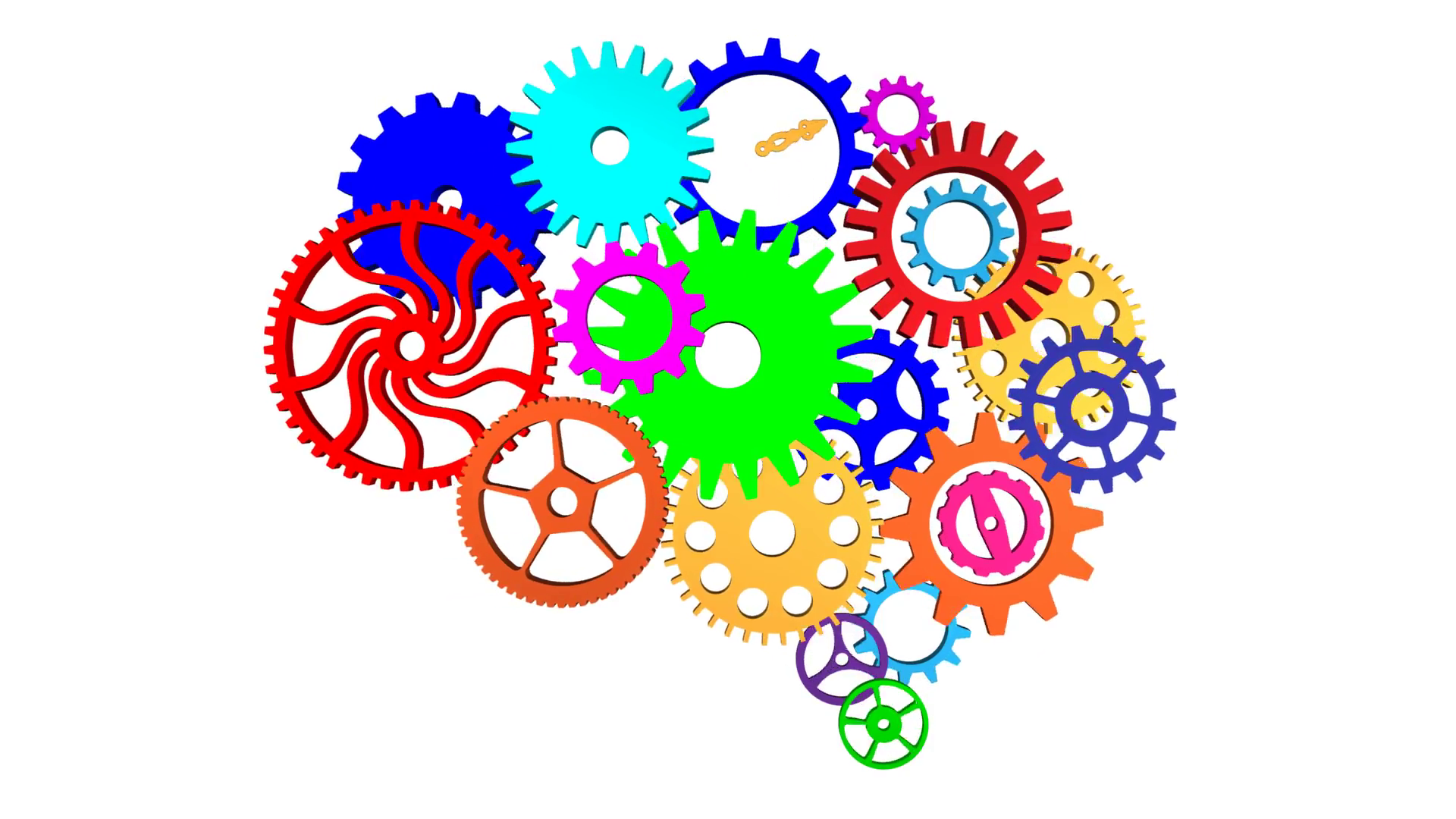 Brain gears. With png free transparent