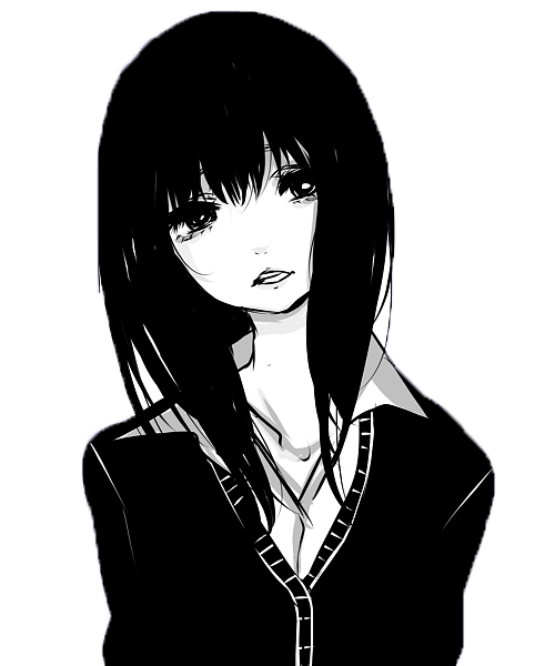 Png Of A Girl Black And White & Free Of A Girl Black And ...