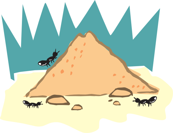 Cartoon Ant Hill Png - Ant Nest Clipart