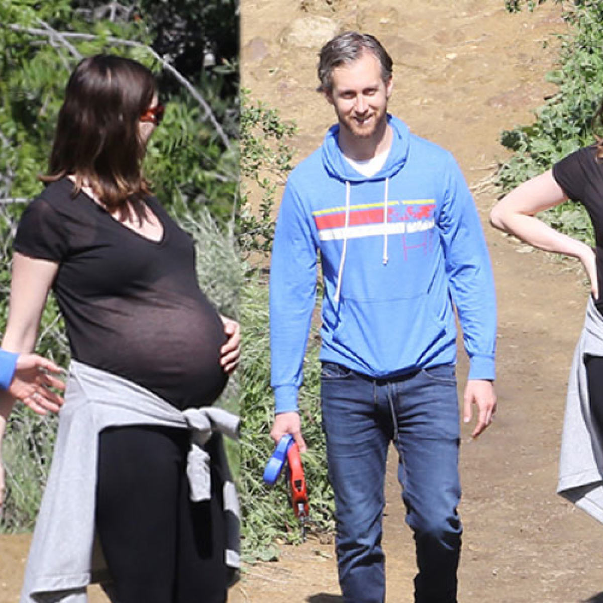 Ready To Pop Pregnant Png - Any Day Now! Anne Hathaway Wears Sheer Top & Looks Ready To Pop ...