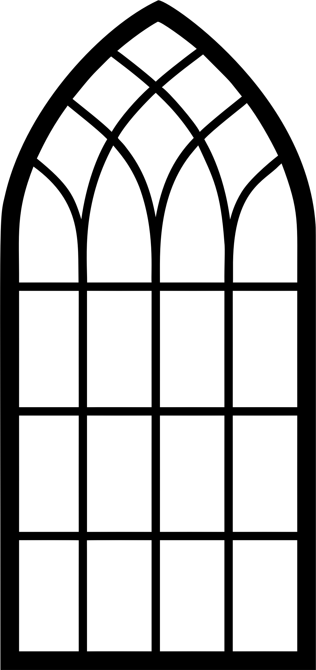 Cathedral Window Png - Arch Church Window Clipart