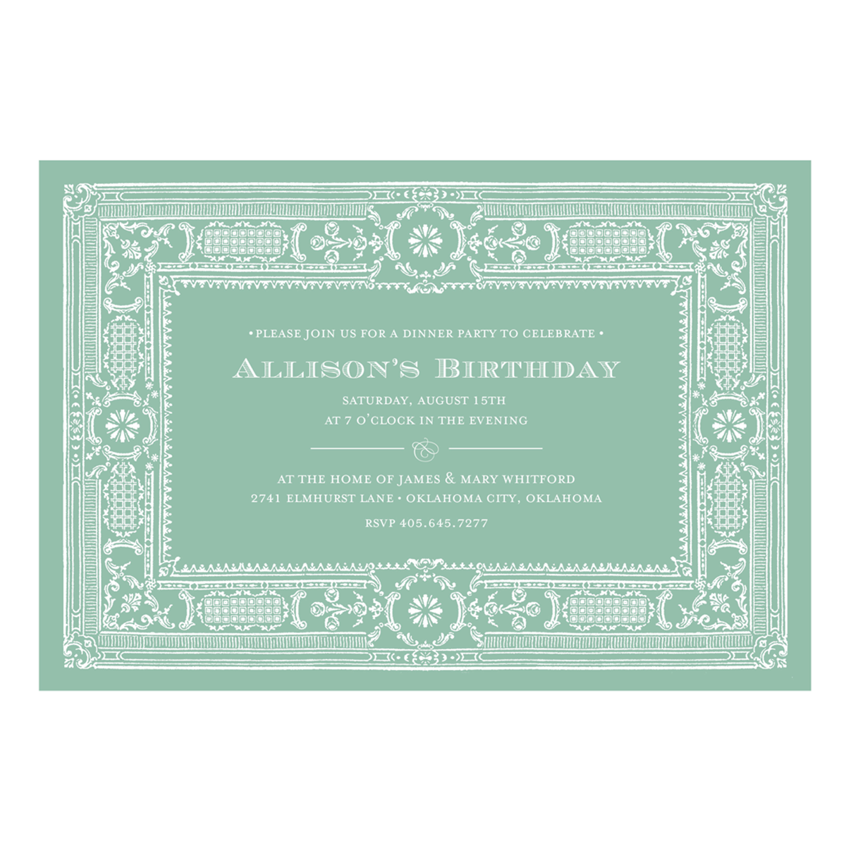 August Birthday Borders Png - Architectural Border Invitation - Anna Griffin