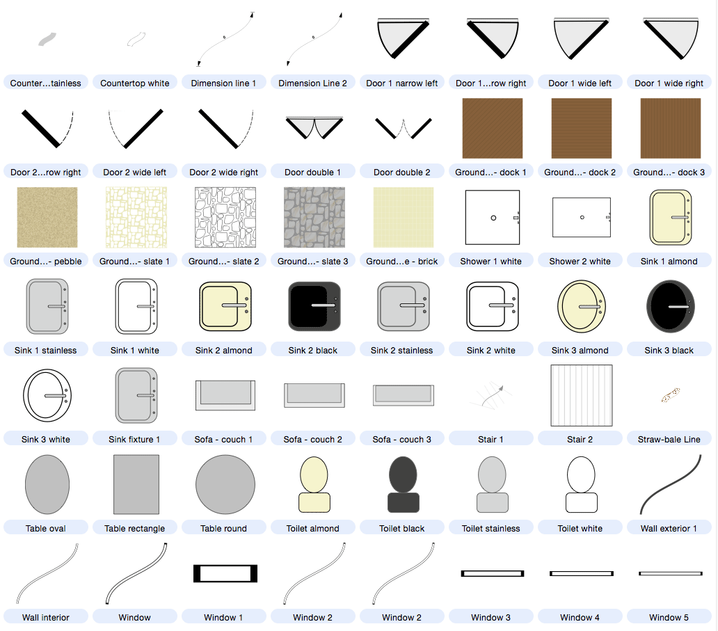 Architecture Buildings And Floor Plan Symbols Included With 1271657 Png Images Pngio