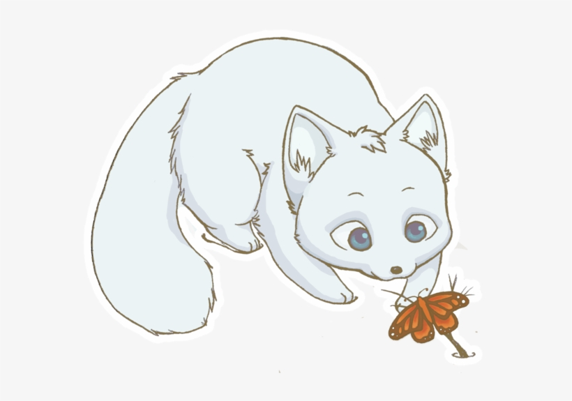 Arctic Fox Drawing Png - Arctic Fox Clipart Adorable - Cute Arctic Fox Drawing - Free ...