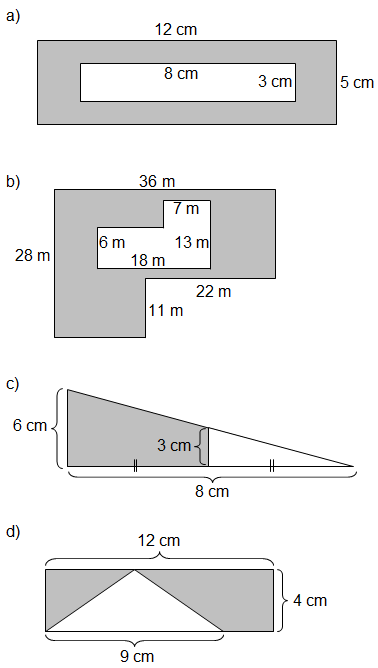 Shading Worksheet Png - Area of Shaded Region Worksheets (rectangles and triangles)