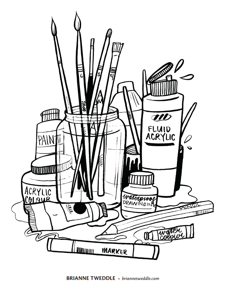 - Art Supplies White Png & Free Art Supplies White.png Transparent Images  #24811 - PNGio