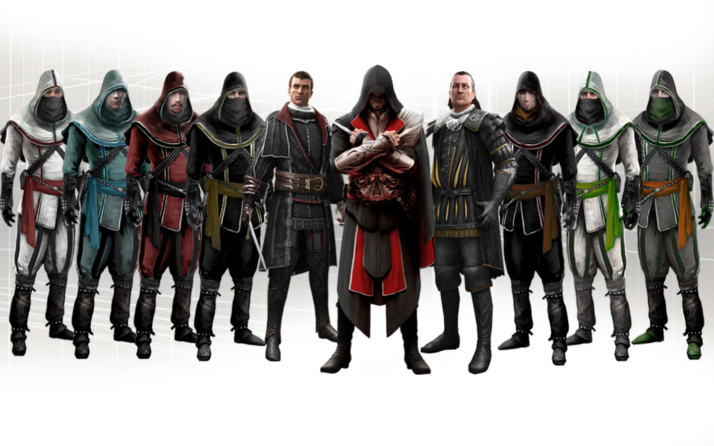 Assassins Creed All Assassins Png Free Assassins Creed All