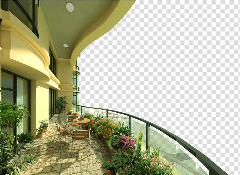 Balcony Porch Png - Assorted plants in pots on porch, Balcony Wall Paper Mural ...