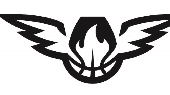 Hawk Png Black And White - Atlanta Hawks trademarking new logo - Atlanta Business Chronicle