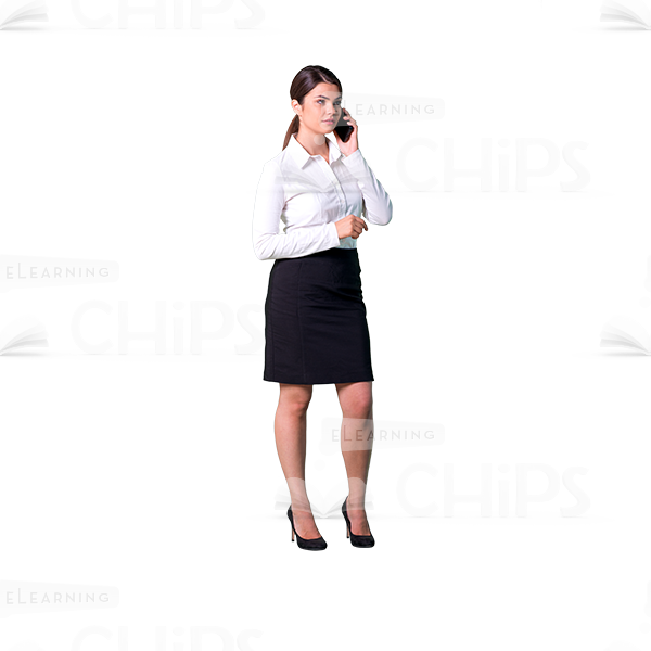 Woman Talking On Phone Png - Attentive young woman talking the phone cutout photo