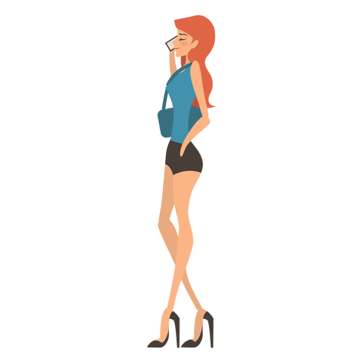 Woman Talking On Phone Png - Attractive girl talking phone - Transparent PNG & SVG vector