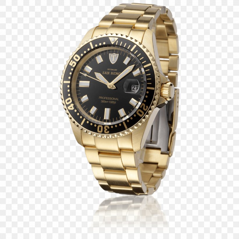 Automatic Watch Png - Automatic Watch De Tomaso Gold Diving Watch, PNG, 2160x2160px ...