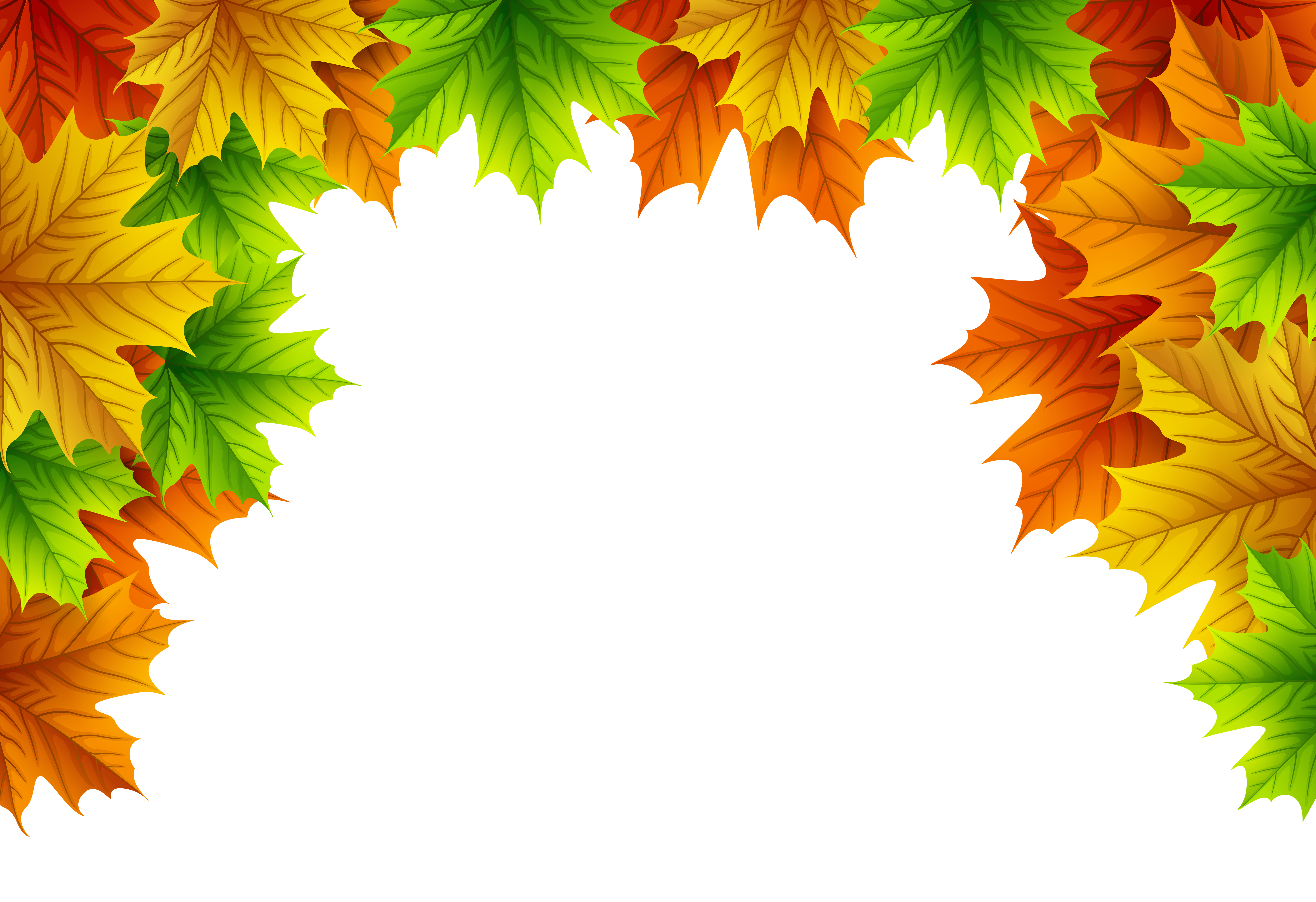 Fall Leaves Border Png & Free Fall Leaves Border.png ...