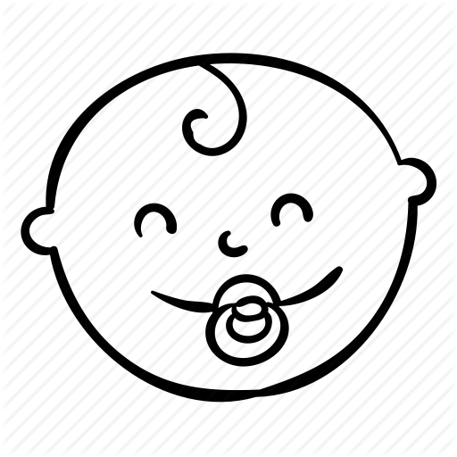 Baby Face Outline Png - Avater, baby, face, happy, kid icon