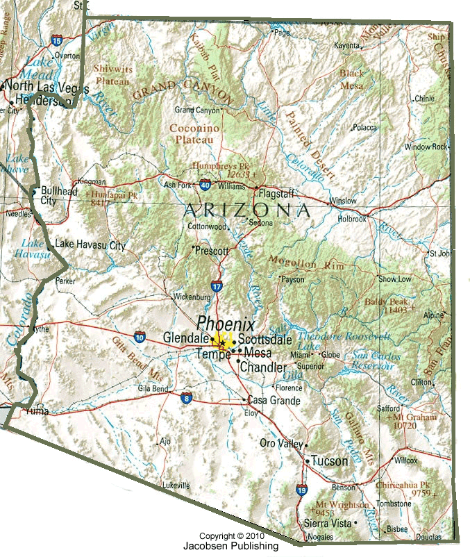 Topographical Map Of Arizona.Az Shaded Relief Map Fullscreen 467922 Png Images Pngio