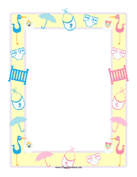 Baby Border For Word Clipart Clip Art