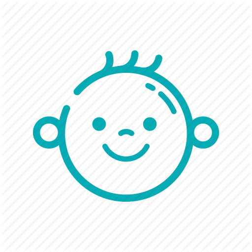 Baby Face Outline Png - Baby, face, icon, nursery, outline icon